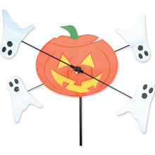 "Load image into Gallery viewer, Halloween Jack & Ghosts Whirligig Spinner; Nylon 10.5""x9"", diameter 21"""