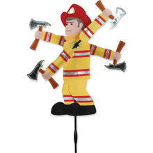 "Load image into Gallery viewer, Fireman Whirligig Spinner; Nylon 8""x19.5"", diameter 14"""