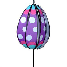 "Load image into Gallery viewer, Purple Polka Dotted Egg Spinner; Nylon 13""ODx18.5"""