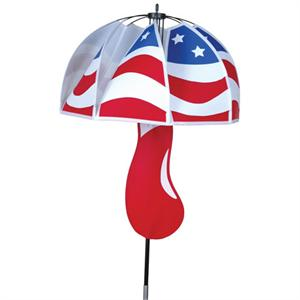 "Load image into Gallery viewer, Patriotic Magical Mushroom Spinner; Nylon 15""ODx46"""