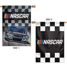 Load image into Gallery viewer, NASCAR Double Sided Vertical Logo Banner; Polyester