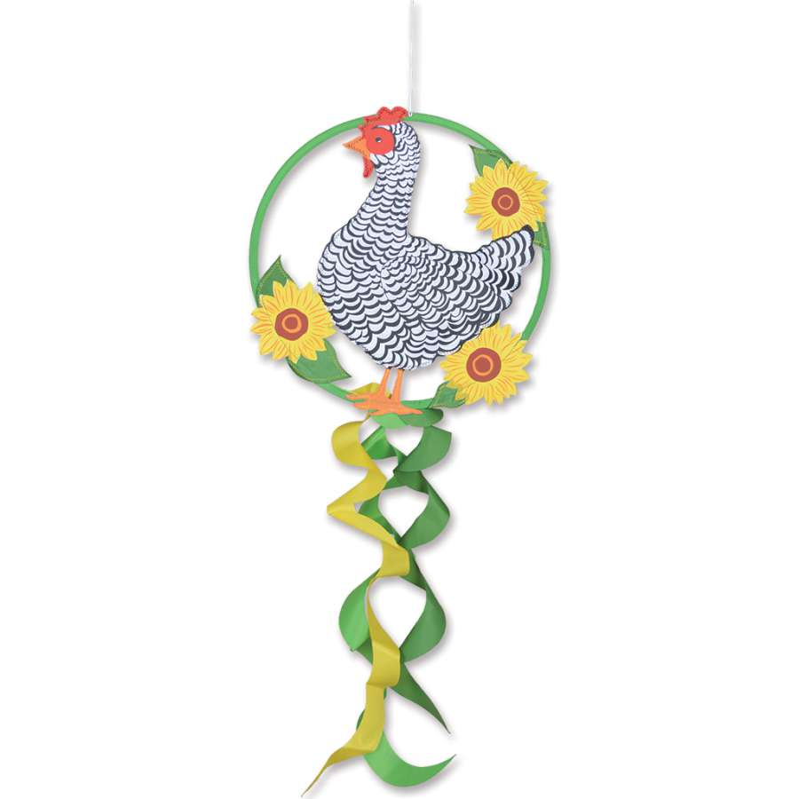 "Load image into Gallery viewer, ""Chicken"" Dreamcatcher Windsock; Polyester"