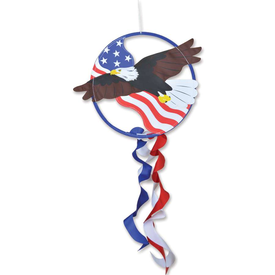 "Load image into Gallery viewer, ""Eagle"" Dreamcatcher Windsock; Polyester"