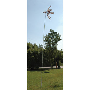 14' Telescoping Pole for Yard Art Spinners