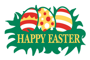 3x5 Easter Eggs Seasonal Flag; Nylon H&G