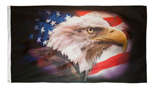 3x5 American Eagle Flag, Nylon H&G