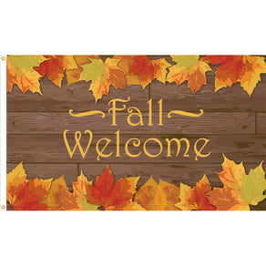 3x5 Fall Welcome Seasonal Flag; Nylon H&G