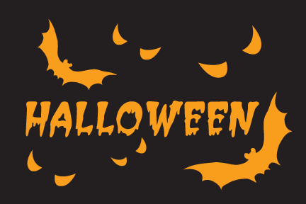 2x3 Halloween Bats Seasonal Flag; Nylon H&G