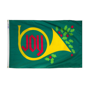 2x3 Joy & Horn Seasonal Flag; Nylon H&G