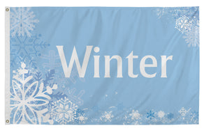 3x5 Winter Scene Seasonal Flag; Nylon H&G