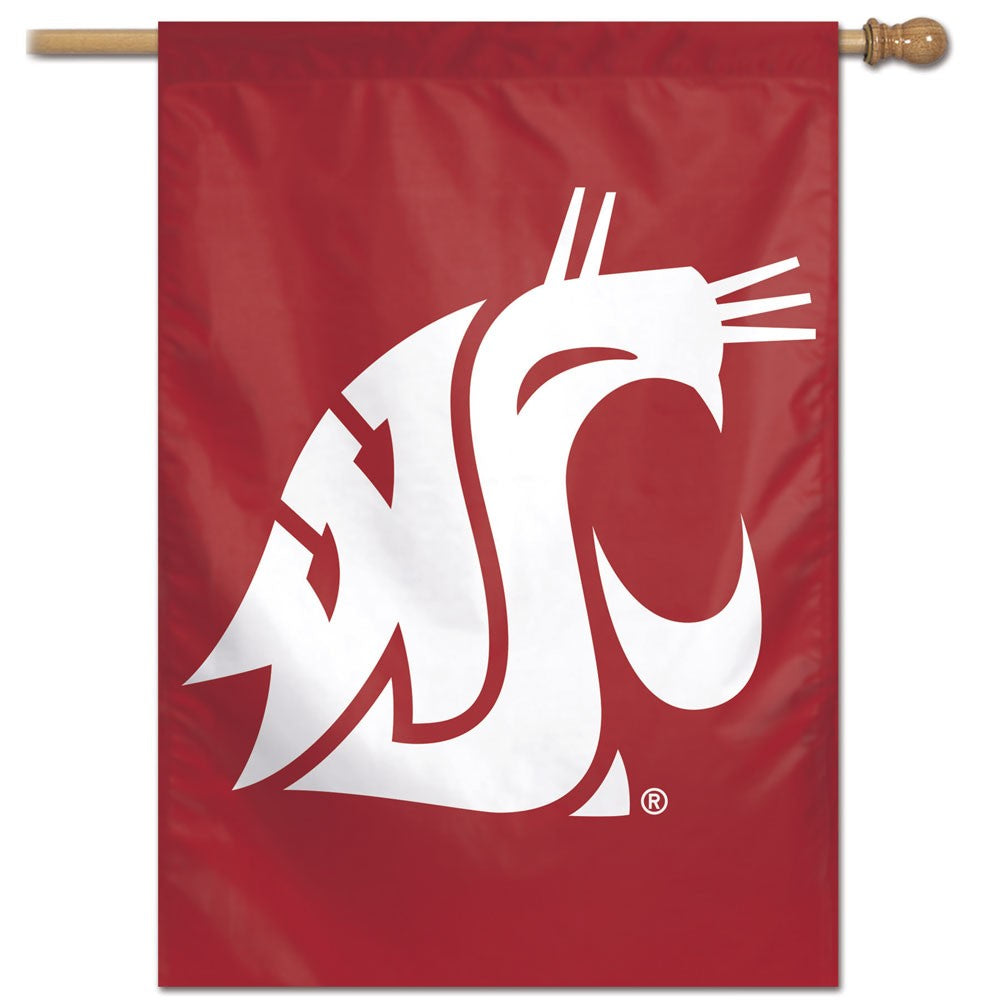 Load image into Gallery viewer, Washington State University Cougars House Flag; Polyester