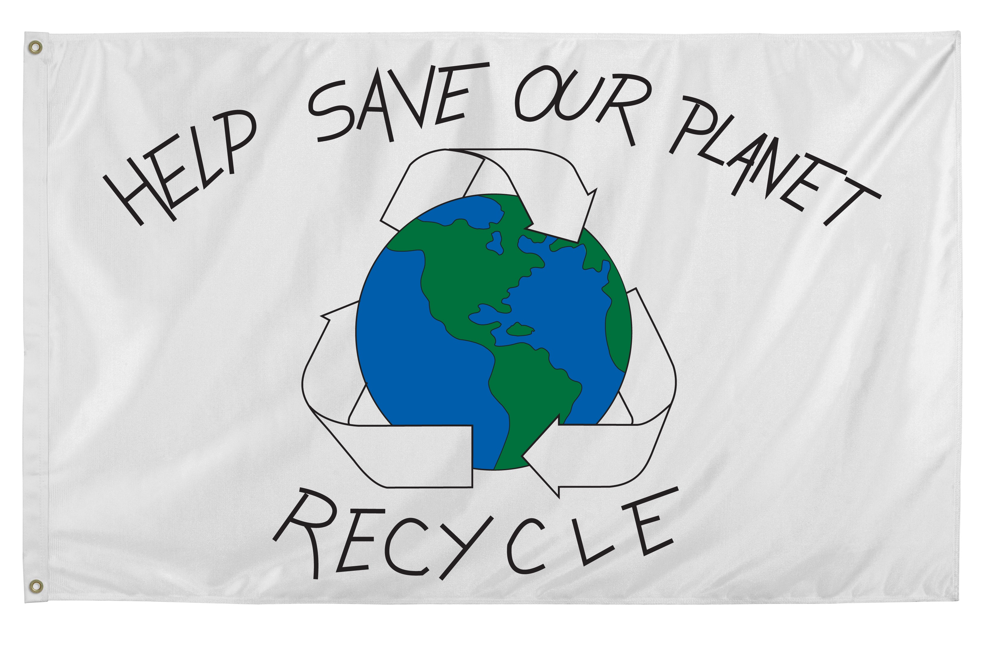 Load image into Gallery viewer, 3x5 Save Our Planet Flag; Nylon H&G
