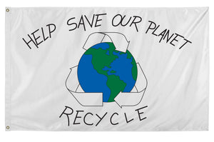 3x5 Save Our Planet Flag; Nylon H&G