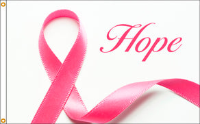 3x5 Hope Pink Ribbon Flag; Nylon H&G