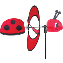 "Load image into Gallery viewer, Ladybug Spinner; Nylon 13""x10"", diameter 10"""