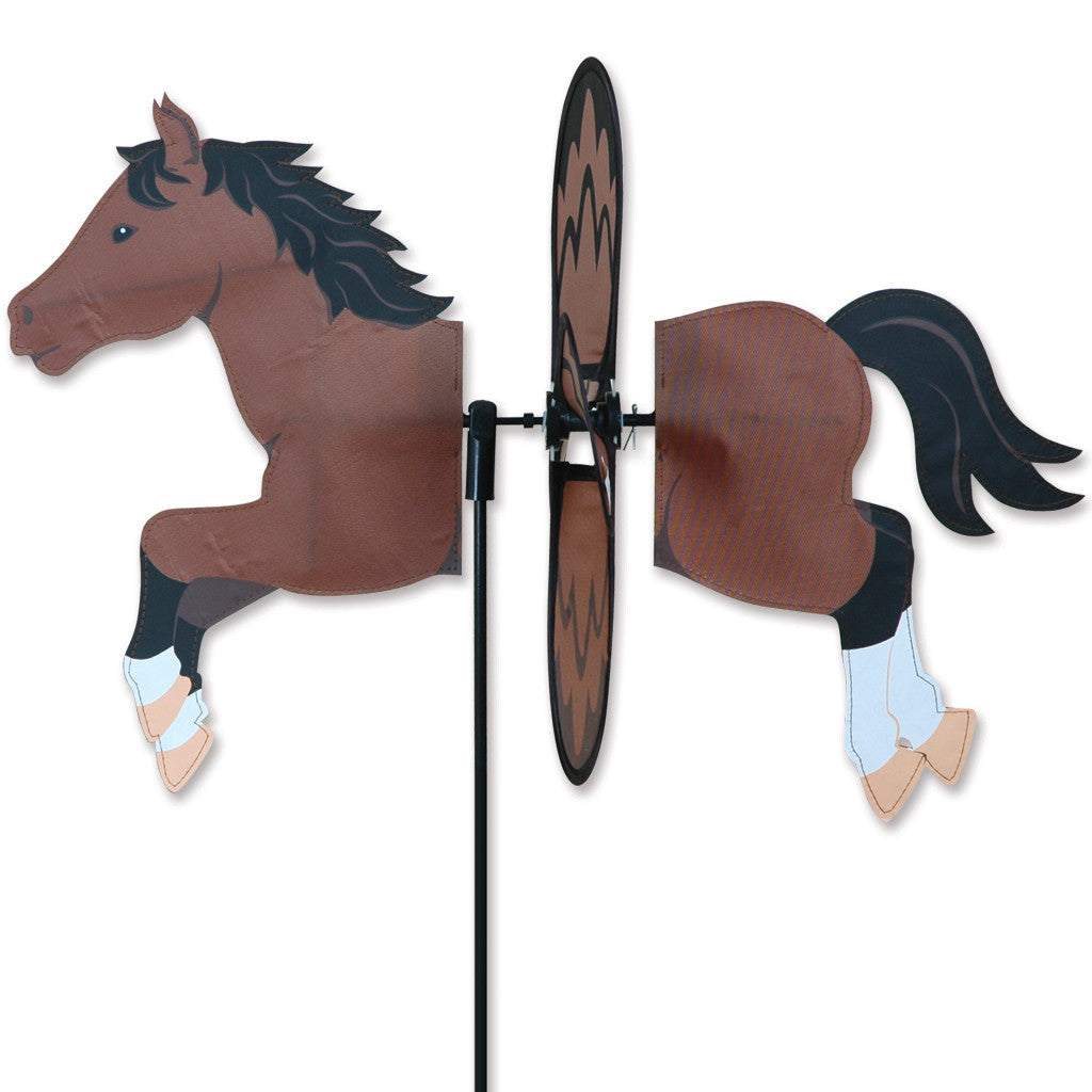 "Load image into Gallery viewer, Bay Horse Petite Spinner; Nylon 19""x13.5"", diameter 12.75"""
