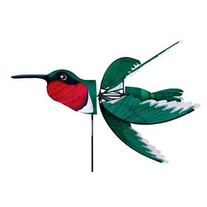 "Load image into Gallery viewer, Flying Ruby Hummingbird Spinner; Nylon 37""x32"", diameter 32"""