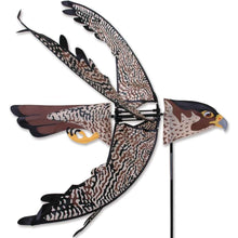 "Load image into Gallery viewer, Flying Peregrine Falcon Spinner; Nylon 29.5""x32"", diameter 32"""