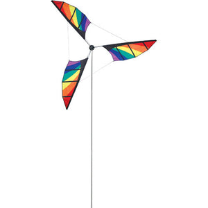 Rainbow Wind Generator to include Aluminum Mast & Ground Stake; 10.5T Pole with 6.5OD Wind Generator