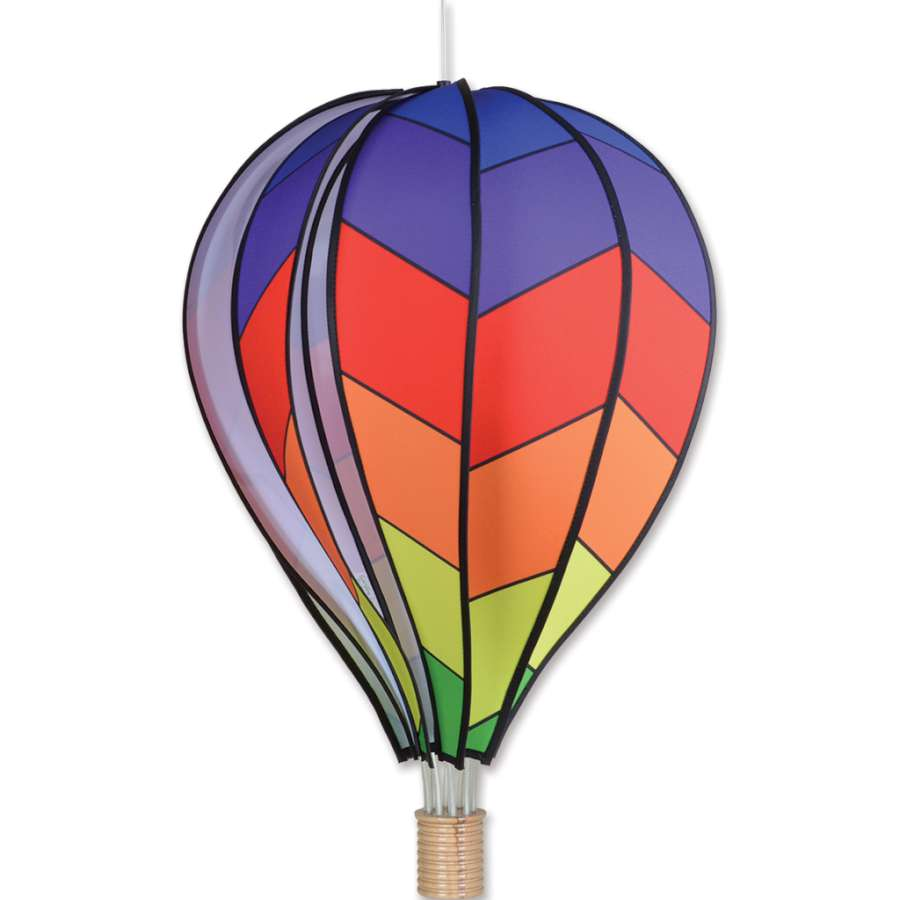 "Load image into Gallery viewer, Chevron Rainbow Hot Air Balloon; 26""x17"""