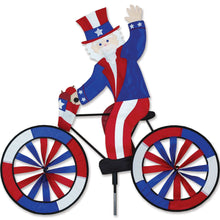 "Load image into Gallery viewer, Uncle Sam Seasonal Bicycle Spinner; Nylon 30""x30""x12.25""OD"