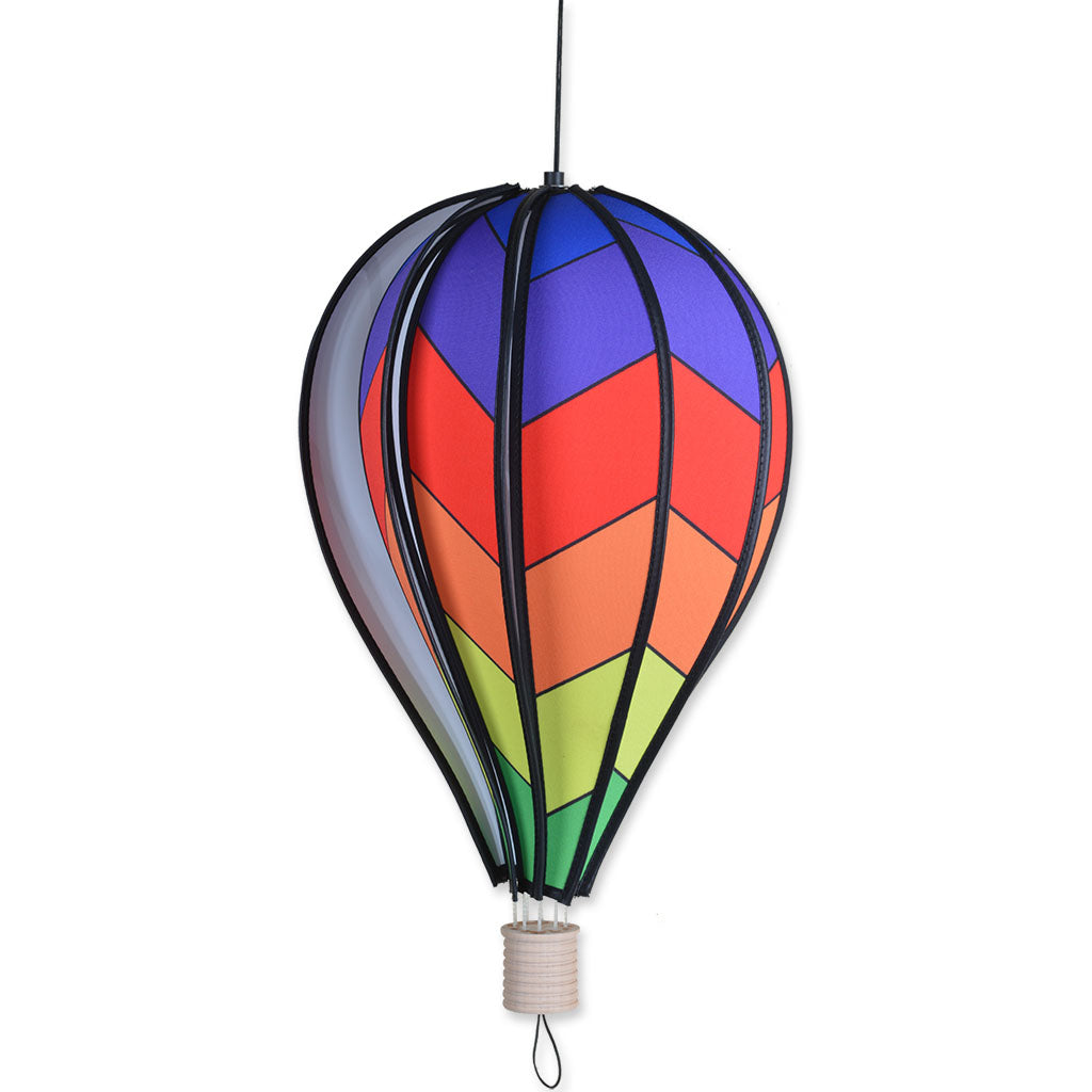 "Load image into Gallery viewer, Chevron Rainbow Hot Air Balloon; 10""x18"""