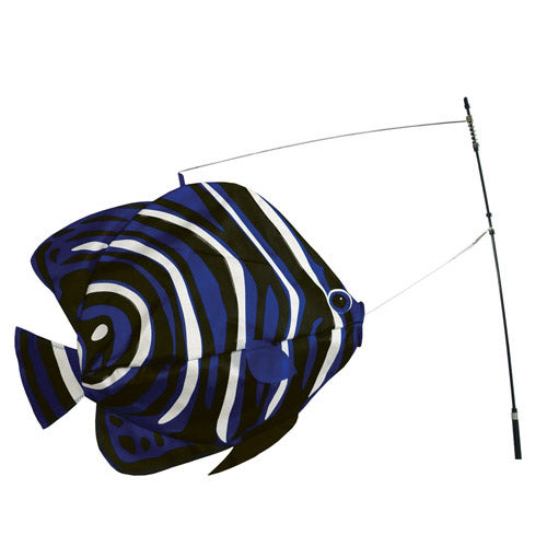 "Load image into Gallery viewer, Korean Angelfish Swimming Fish to include fiberglass hardware & pole; Nylon 20""x14"""