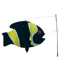 "Load image into Gallery viewer, Damsel Fish Swimming Fish to include fiberglass hardware & pole; Nylon 23""x13"""