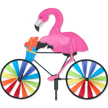 "Load image into Gallery viewer, Flamingo Seasonal Bicycle Spinner; Polyester 20""x16.5""x7""OD"