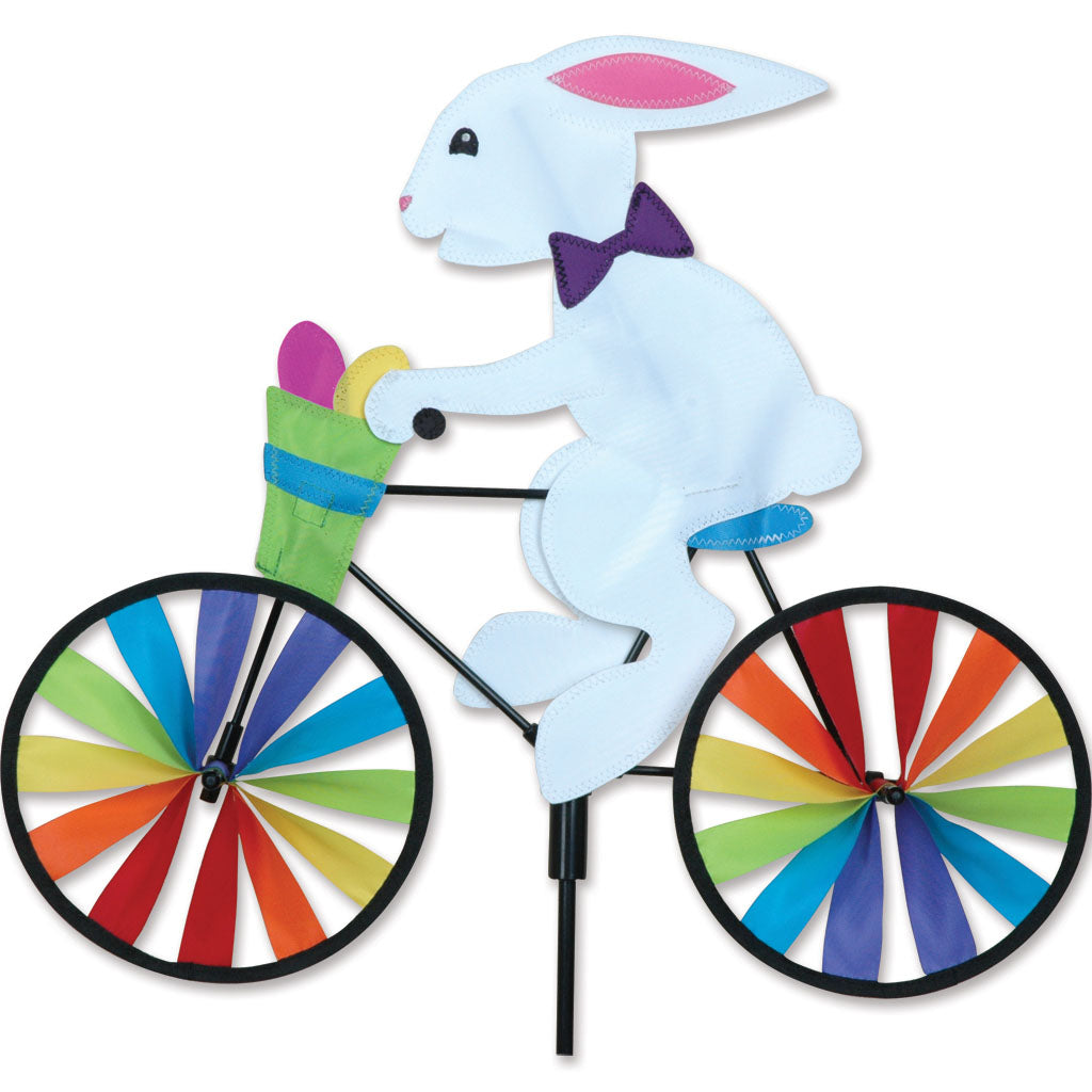 "Load image into Gallery viewer, Easter Bunny Seasonal Bicycle Spinner; Nylon 20""x16.5""x7""OD"
