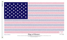 Load image into Gallery viewer, 3x5 Flag of Honor Memorial Edition Flag; Poly-Cotton H&G