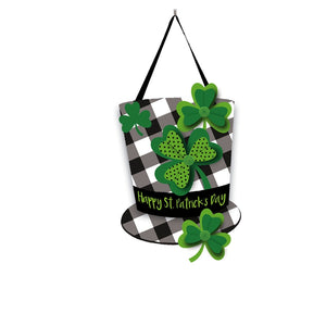 Plaid St.Patrick's Day Hat Door Decor