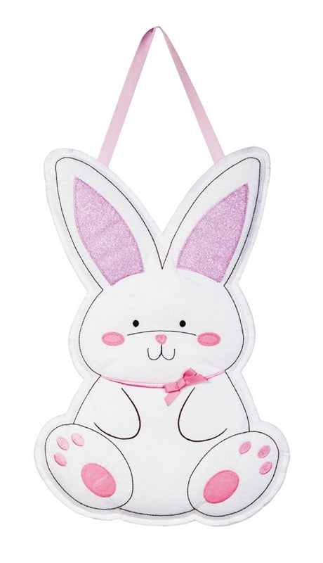 "Load image into Gallery viewer, ""Happy Easter Bunny"" Door Hanger; Felt 21""Lx15""W"