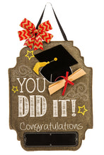 "Load image into Gallery viewer, ""Graduation Day"" Door Hanger; Felt 21""Lx16""W"