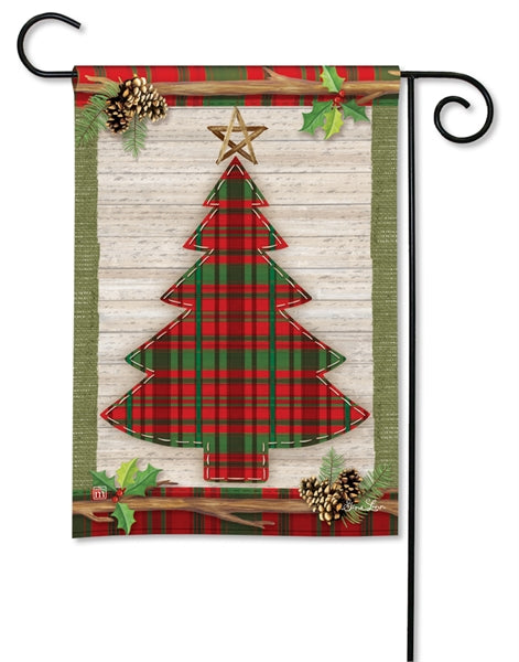 "Load image into Gallery viewer, ""Rustic Christmas"" Printed Seasonal Garden Flag; Polyester"