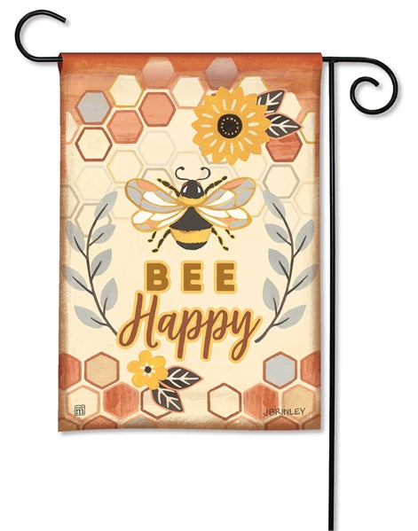 "Load image into Gallery viewer, ""Honey and Hive"" Printed Seasonal Garden Flag; Polyester"