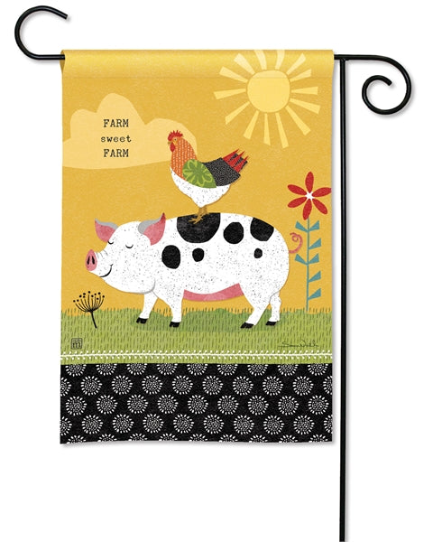 "Load image into Gallery viewer, ""Farm Charm Fun"" Printed Seasonal Garden Flag; Polyester"