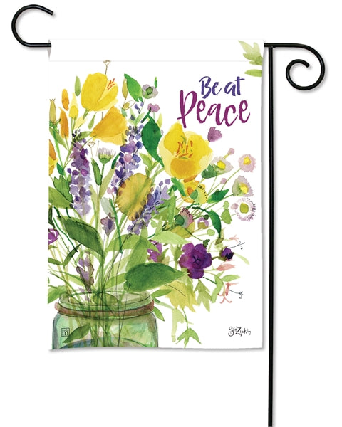 "Load image into Gallery viewer, ""Peace Bouquet"" Printed Seasonal Garden Flag; Polyester"
