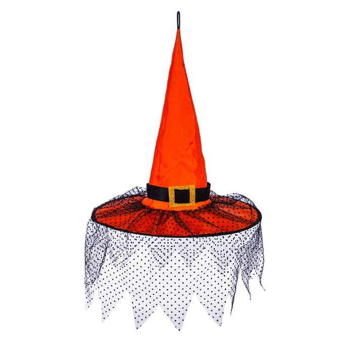 Orange Witch Hat 3D Chasing Light Hanging Décor; 17