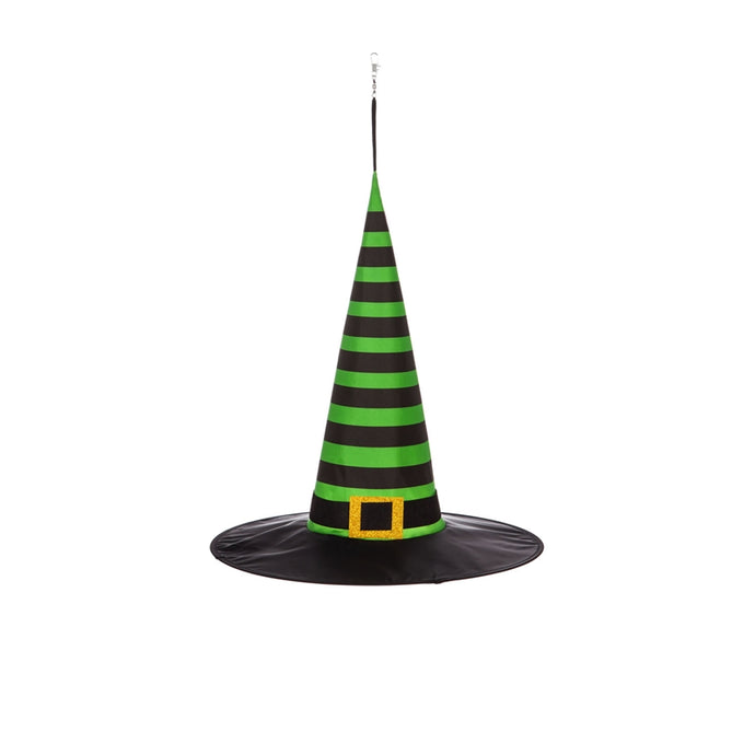 Striped Witch Hat 3D Chasing Light Hanging Décor; 17