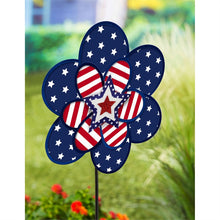 "Load image into Gallery viewer, Stars & Stripes Organza Pinwheel; 15""ODx36""T"