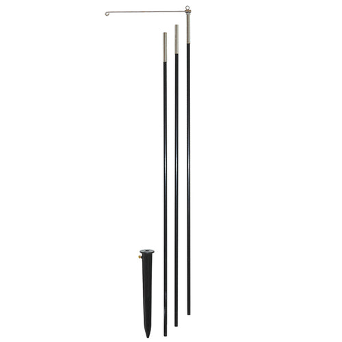 10' 3-Section Heavy Duty Windsock Pole with Swiveling Arm & Yard Stake
