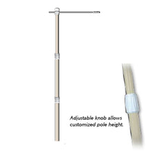 Load image into Gallery viewer, 10' Heavy Duty Banner Pole, with hardware that allows 360 degree swivel