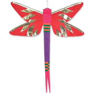 Damselfly Hanging Banner - Red