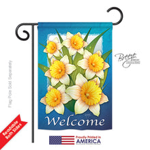 "Load image into Gallery viewer, ""Blooming Daffodils"" Printed Seasonal Garden Flag; Polyester"