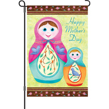 "Load image into Gallery viewer, ""Happy Mothers Day"" Printed Seasonal Garden Flag; Polyester"