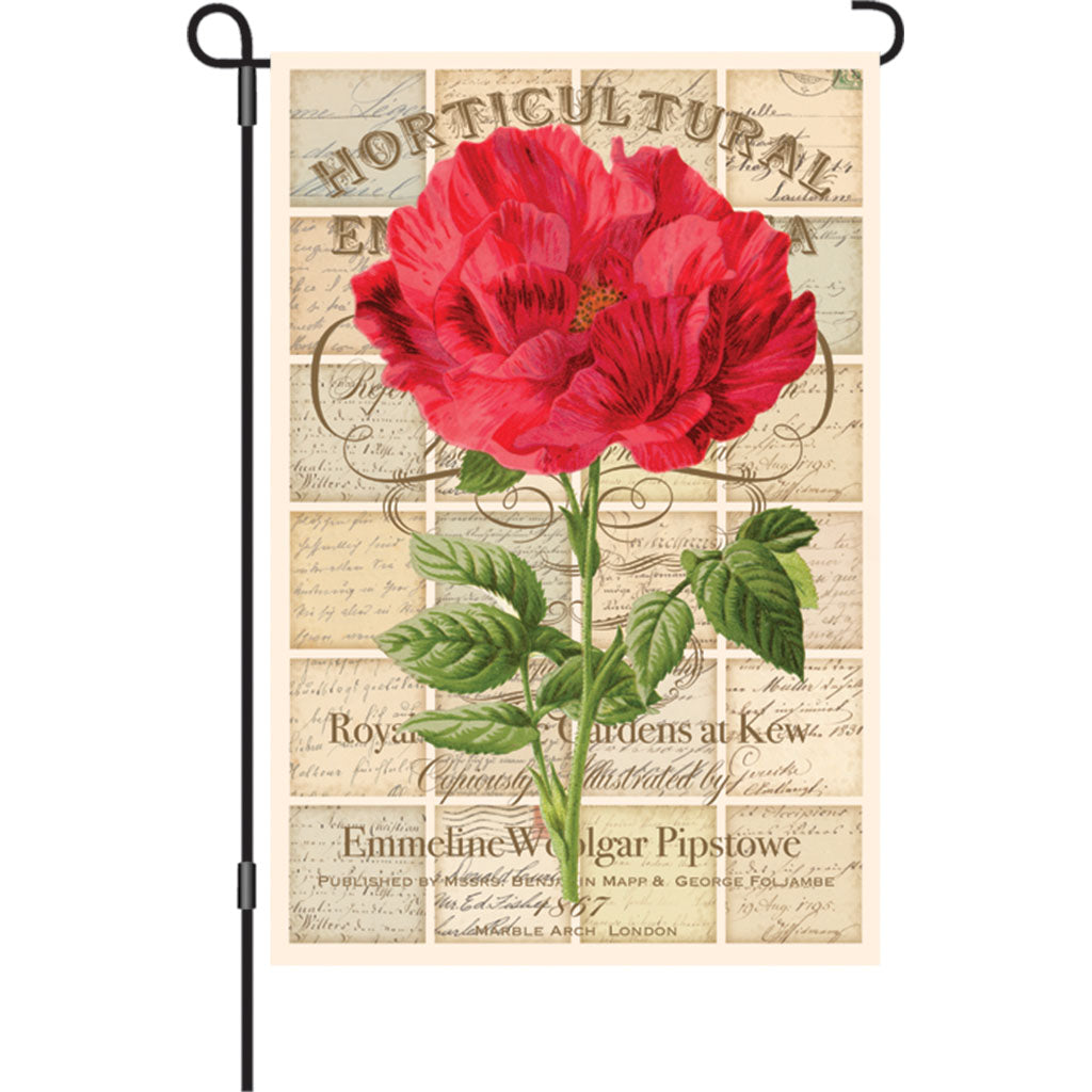 "Load image into Gallery viewer, ""Love Letter Rose"" Printed Seasonal Garden Flag; Polyester"