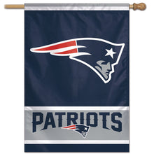 Load image into Gallery viewer, New England Patriots House Flag; Polyester