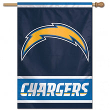 Load image into Gallery viewer, Los Angeles Chargers Double Sided House Flag; Polyester