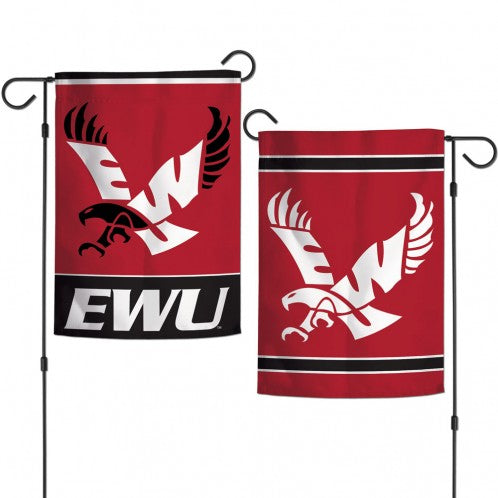 Load image into Gallery viewer, Eastern Washington University Eagles Double Sided Garden Flag; Polyester